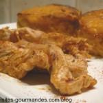 Filet de dinde au paprika et flan de carottes au mascarpone.