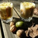 Verrine d'automne à la crème légère pour ce délicieux dessert frais.