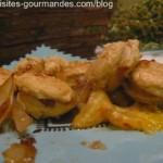 Boudin blanc mandarine et oignon au vinaigre balsamique