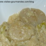 Entrée de noël, noix de st jacques à la vanille et fondue de poireaux