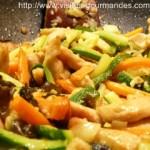 wok de légumes et blancs de poulet