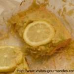 Saumon et guacamole en papillote