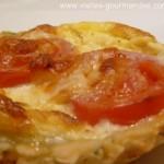 Fond de tarte au pesto pour des tartelettes tomates et mozarella