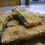 Courgettes panées a la farine de pois chiche et polenta