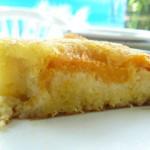 Gâteau renversé parfum vanille limoncello aux abricots.
