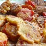 Tomates en beignet de farine de pois chiche