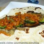 Wrap ou petites crêpes de légumes aux épices