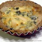 Tartelettes au tourteau de noix , poires et bleu de Sassenage