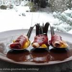 Magret de canard séché , mangue et vinaigre balsamique