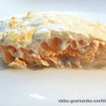 Filet de saumon au four et sa croûte de Philadelphia aux oignons et échalotes