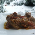 Sauté de dinde sauce curry et carrés frais au poivre et baies roses
