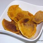 Chips de patates douces ... au micro-ondes (légères et épicées)