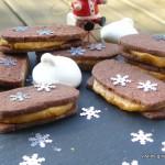 Biscuits tout chocolat fourrés au caramel beurre salé pour Culino-versions