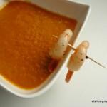 Soupe de crevettes et tomates