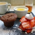 Le café gourmand de Lucie pour Culino Versions (chocolat, vanille, fraise)