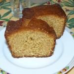 Cake à la vanille, citron et miel.
