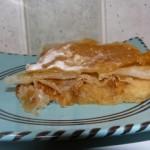 Pastilla aux pommes et noix au caramel à ma facon.