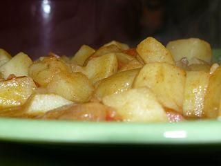 Ragout de pommes de terre au massalé.