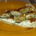 Tarte ricotta et courgettes (pate huile d'olive)