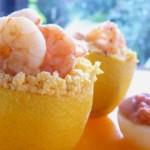 Citrons surprise et crevettes au curry.