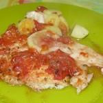 Filets de poisson au four (tomates et citron)