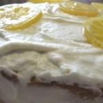 Gâteau  à la mousse de citron au mascarpone.