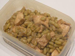 Poulet et haricots au massalé.