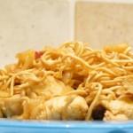 Poulet sauce miel,piment et nouilles chinoise