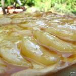 Tarte poire caramel sur créme citron