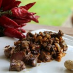 Foies de volaille sautés aux cacahuètes et sauce soja