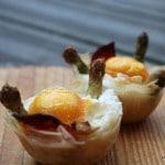 œufs et asperges en nid de filo, ricotta et chorizo pour bataille food 22