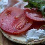 "Tartine ""comme une mini piadina romagnola"" aux gouts d'Italie"