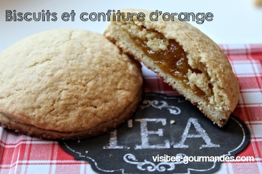 Biscuit coeur orange